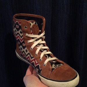 Tory Burch Noah Brown Suede Sneaker